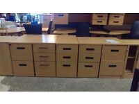 Office 3 drawer pedestals