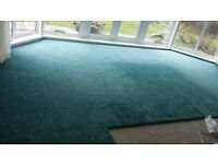 REDUCED PRICE - Large area of top quality pre-loved carpet, mid blue colour with delicate pattern