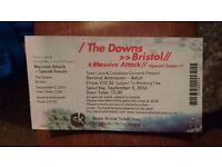 2 x Massive Attack Festival Tickets @ The Downs, Bristol (+Tricky, Primal Scream, Skepta)