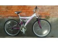 Reebok aluminium frame dual suspension bike