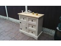 shabby chic pine sideboard /unit