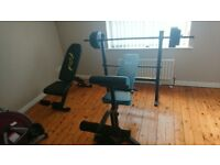 Mens health folding workout bench and opti utility training bench ..gym,