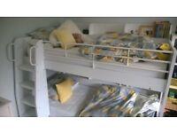 White Julian Bowen 'Domino' bunk beds - full-size singles with shelves
