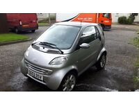 Smart Car city coupe for two 2002. Low mileage. MOT till Feb 2017.