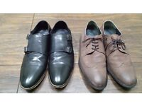 2 PAIRS ONFIRE MENS LEATHER SHOES SIZE 10