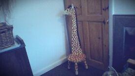 childs wooden giraffe stool