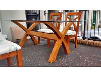 Beautiful Glass table and 4 chairs