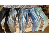 Job lot of ladies size 10 jeans (4 pairs)