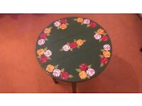 Small hand decorated folding occasional tables.