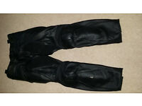 Dainese mens leather motorcycle trousers