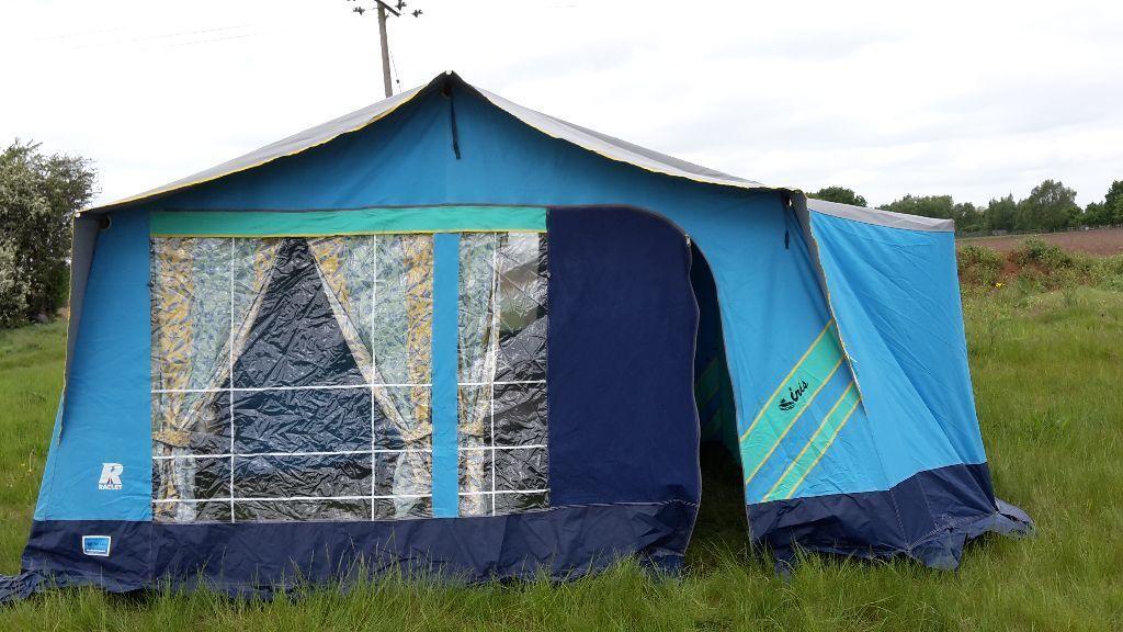 raclet 2002 iris marathon trailer tent in sandy bedfordshire gumtree. Black Bedroom Furniture Sets. Home Design Ideas