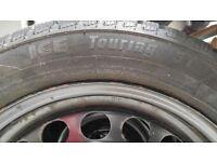 "205/55 r16 Avon Winter Tyres on 16"" Steel Wheels - VW/Skoda/Audi/Seat"