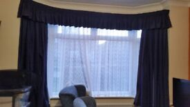 Various curtains and nets