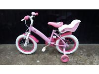 """HELLO KITTY"" 14 INCH CHILDS BICYCLE + MATCHING HELMET.....IMACULATE CONDITION....."