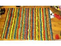 Funky Multicoloured Striped Shaggy Rug (120cm x 170cm)