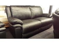 EX-DISPLAY SCS BLACK LEATHER 3 SEATER STATIC