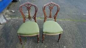 X2 antique chairs lovely design