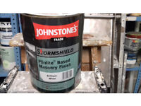 JOHNSTONE'S TRADE STORMSHIELD PLIOLITE BASED MASONRY FINISH BRILLIANT WHITE 5 LITRE