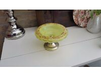 """Antique Opaline Glass Dish/Bowl 