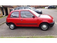 1994 NISSAN MICRA 1.0 LITRE ENGINE, HATCHBACK, RED, MANUAL, P65000 MOT TILL MAY 2018 GOOD CONDITION