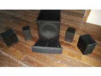 high quality German Canton loudspeaker set HIFI/Dolby Surround (6 pieces)