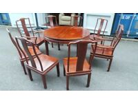 Chinese Dining Set - Table 8 Chairs Sideboard Asian Rosewood delivery available