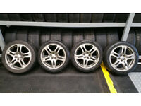 Subaru Genuine 17 alloy wheels + 4 x tyres 215 45 17