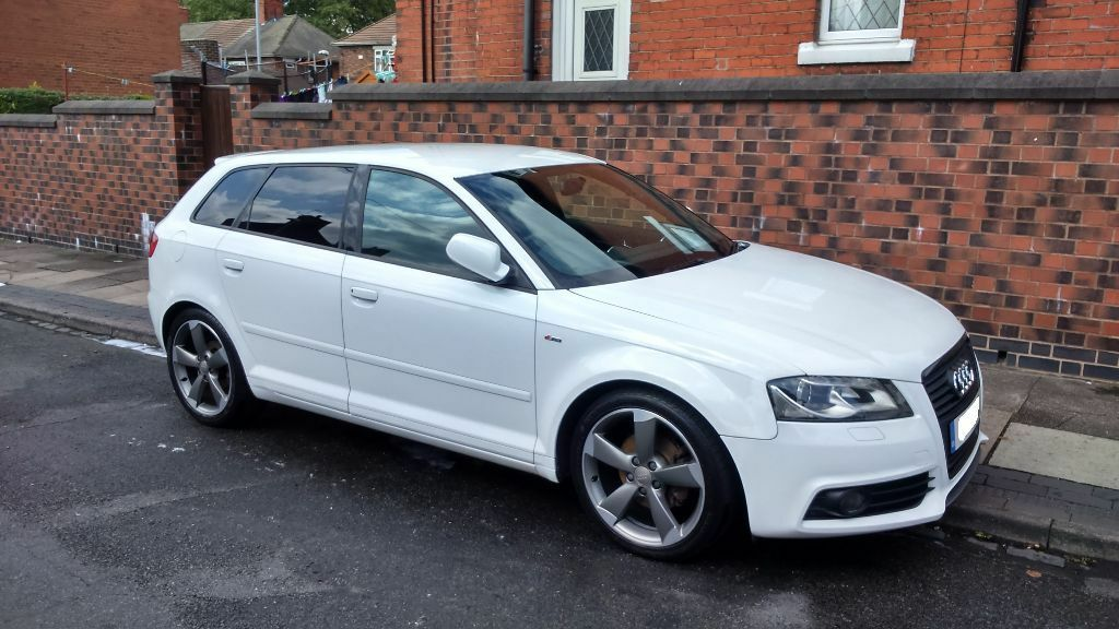 Audi A3 Tdi S Line Black Edition In White 5 Door 163 30 Tax 1