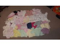 Bundle of baby girls clothes- first size and new born
