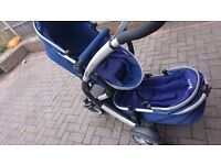 Double isafe pushchair