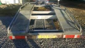 Large car and van beavertail transporter trailer