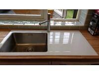 Kitchen glass sink
