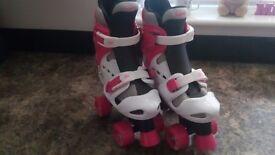 Girls Quad Skates and pads