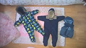 NEXT boys snowsuits and body warmer