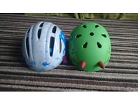 1x baby and 1 x toddler bike helmet