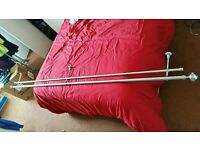 Stainless steel double curtain pole. Used. Dawlish. Devon