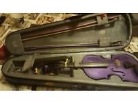 Girls purple violin