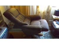 Reclining chair with foot stool