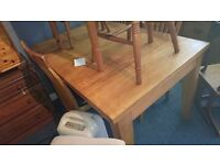 Solid Beech Table & 4 Chairs