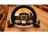 Xbox 360 steering wheel set in excellent codition