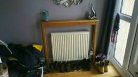 Oak Radiator Table