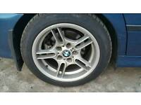 "BMW e39 17"" style 66 alloys and tyres"
