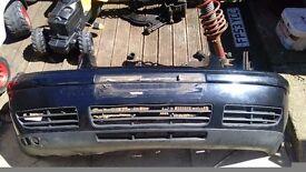 Bora tdi black bumper and grill/ 1 black wing