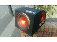 12 Edge sub in box with jbl 500 watt amp