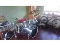 Pearl Export Drums With Sabian AAX Cymbals