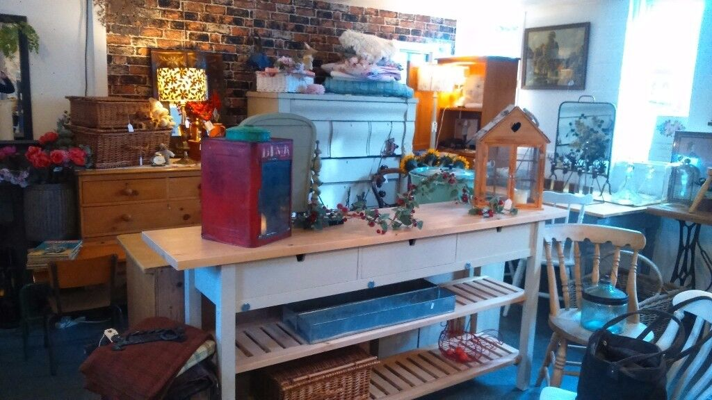 LONG Scrub top kitchen console with drawers and bottom shelves SOLD