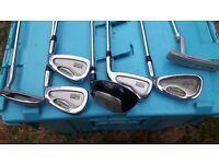 HOWSON golf bag/trolley plus 7golf clubs BARGAIN