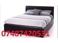 Double leather bed + free 9 inch matttress £99