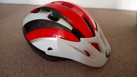 Child's Cycle Helmet 52-56cm, Red/Black