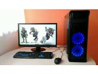"""Intel i5 Gaming PC with 24"""" Monitor, Gaming keyboard, mouse"""